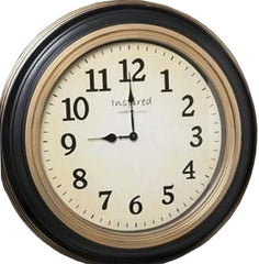 0-000620>Madison Antique Face Wall Clock Black