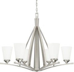 0-004639>Boden 6-Light Chandelier Brushed Nickel