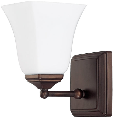 0-016868>1-Light Sconce Burnished Bronze