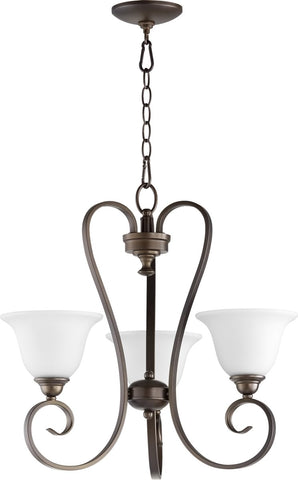 0-003290>Celesta 3-light Chandelier Oiled Bronze w/ Satin Opal