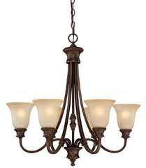 0-031080>28 inchw Hill House 6-Light Chandelier Burnished Bronze
