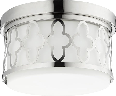 0-005750>2-light Ceiling Flush Mount Polished Nickel