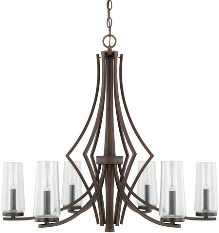 0-024338>Stella 6-Light Chandelier Burnished Bronze