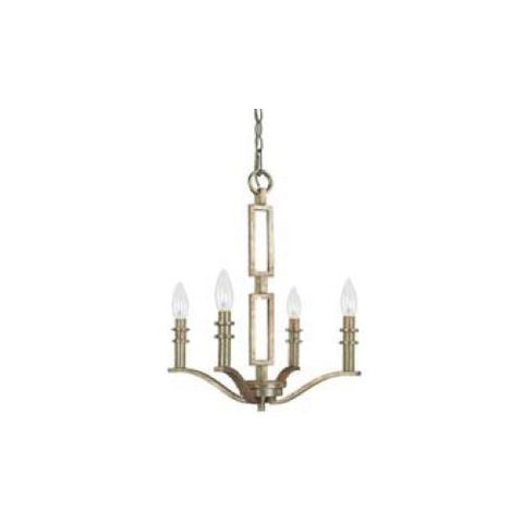 0-000206>4-Light Winter Gold Up Chandelier without Shades