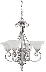 0-005536>25 inchw Chandler 4-Light Chandelier Matte Nickel
