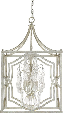 0-026769>Blakely 4-Light Foyer Fixture Antique Silver