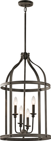 0-023997>Steeplechase 4-Light Chandelier Olde Bronze