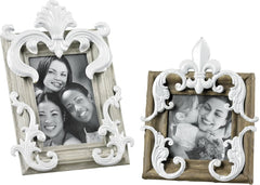 0-022530>Picture Frame Grey/Caramel/White