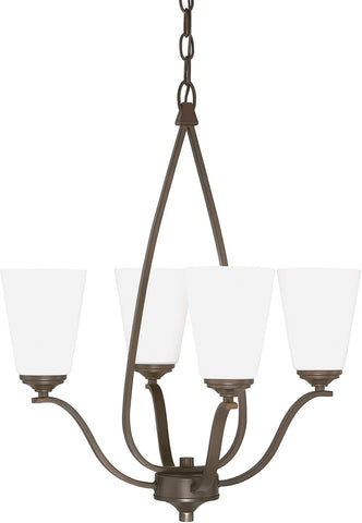 0-000207>Braxton 4-Light Chandelier Burnished Bronze