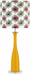 0-004687>OPEN BOX 31 inchh Fantah Youth Table Lamp Orange Glass Body