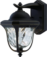 0-022638>OPEN BOX 14 inchh Marquette LED Outdoor Wall Lantern Aged Bronze Patina