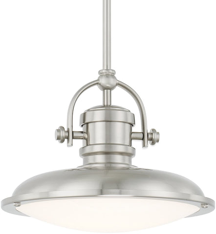 0-018667>Pendants LED Pendant Brushed Nickel