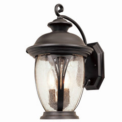 0-009302>OPEN BOX 16 inchh Westchester Outdoor Wall Lantern Bronze