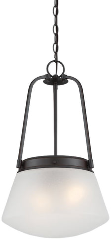 0-013494>Mason 2-Light Pendant Satin Bronze