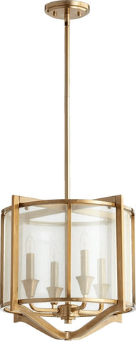 0-002777>Highline 4-Light Pendant Aged Brass