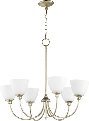 0-002750>Celeste 6-light Chandelier Aged Silver Leaf