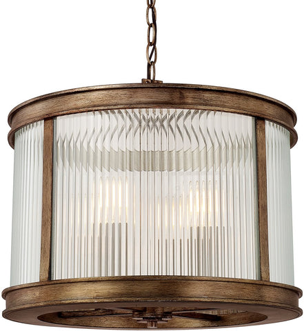 0-021561>Reid 4-Light Pendant Rustic