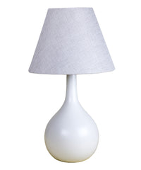 0-000420>Teardrop Table Lamp with Tan Burlap Shade