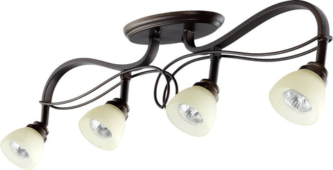 0-024900>Lariat 4-Light Ceiling Mount Oiled Bronze