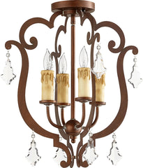 0-002453>Montgomery 4-Light Ceiling Mount Vintage Copper
