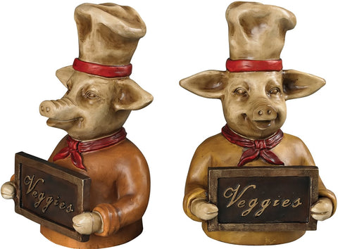 0-016134>Chef Pig Bookends Penarth