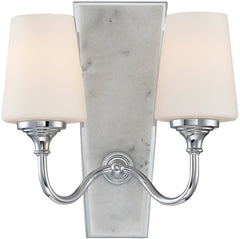 0-017497>Lusso 2-Light Wall Sconce Chrome