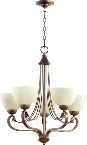 0-026218>Lariat 5-Light Chandelier Oiled Bronze