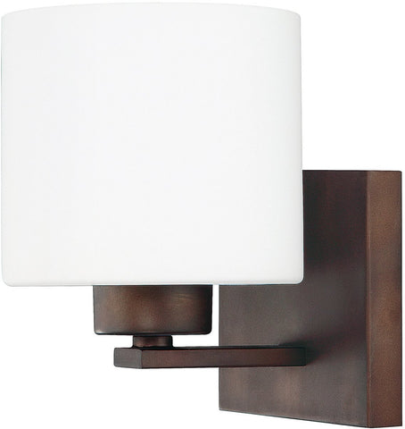0-017530>Steele 1-Light Sconce Burnished Bronze