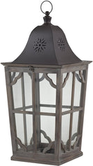 0-032523>32 inchh Large Wooden Lantern Natural Aged Wood