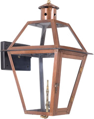 0-006700>Grande Isle Outdoor Gas Wall Lantern Aged Copper