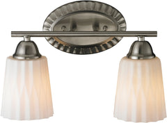 0-031510>14 inchw Waverly 2-Light Bathbar Brushed Nickel