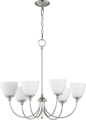 0-002770>Celeste 6-light Chandelier Satin Nickel