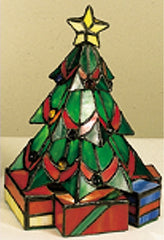 0-005973>OPEN BOX 9 inchh Mini Tiffany Christmas Tree