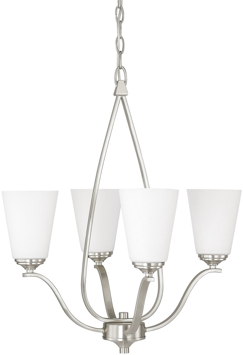save on capital lighting braxton 4 light chandelier brushed nickel