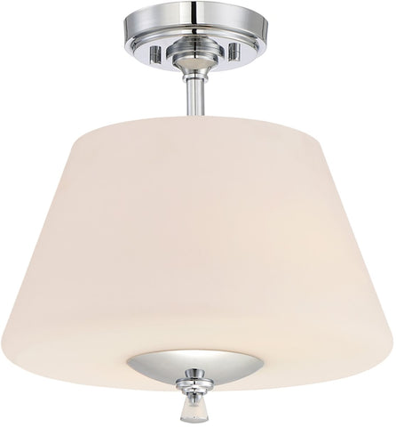 0-008738>Lusso 2-Light Semi Flush Mount Chrome