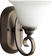 0-003940>Celesta 1-light Wall Mount Light Fixture Oiled Bronze w/ Satin Opal