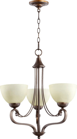 0-003412>Lariat 3-Light Chandelier Oiled Bronze