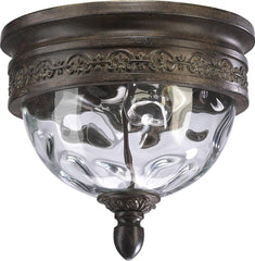 0-012588>12 inchw Georgia 2-Light Outdoor Flush Mount Etruscan Sienna