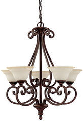 0-030867>27 inchw Chandler 5-Light Chandelier Burnished Bronze