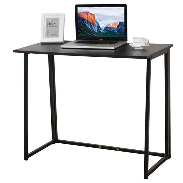 Simple Collapsible Computer Desk Black