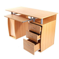 15mm MDF Portable 1pc Door with 3pcs Drawers Computer Desk (A Box) Wood Color