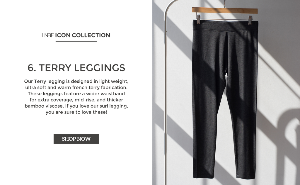 Womens workout leggings - Viscose Bamboo Canada - Terry Leggings by LNBF