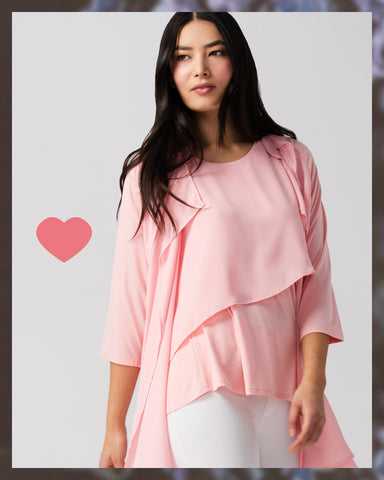 pink cardigan valerie bamboo chiffon spring cover up travel breeze