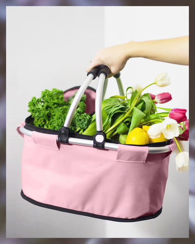picnic basket cooler bag pink green thermal grocery mom gift guide
