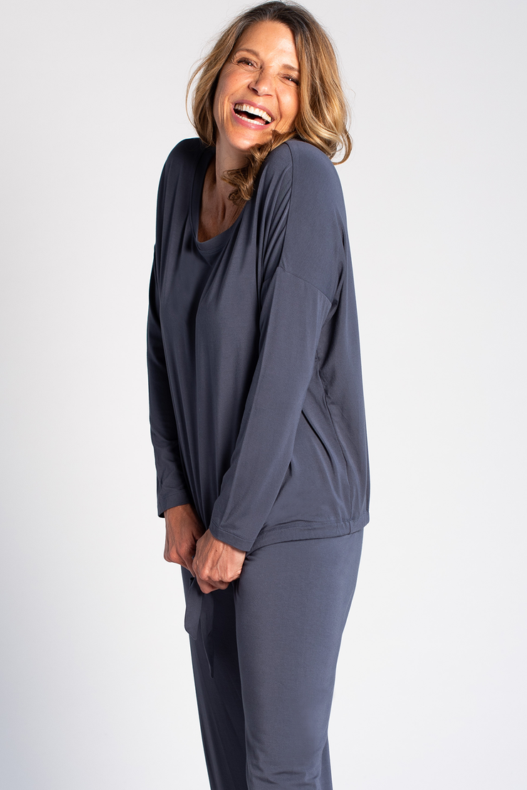 Snuggle-up Lounge Top - Anchor Blue