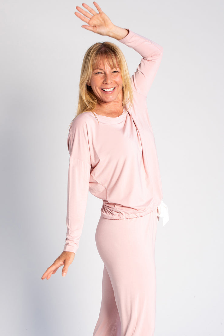 Snuggle-up Lounge Top - Light Pink