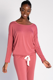 Snuggle-up Lounge Top - Deep Rose