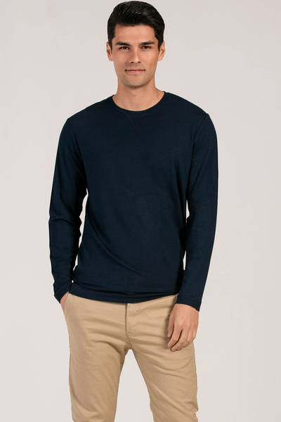 Owen Crew Neck Long Sleeve - Ink