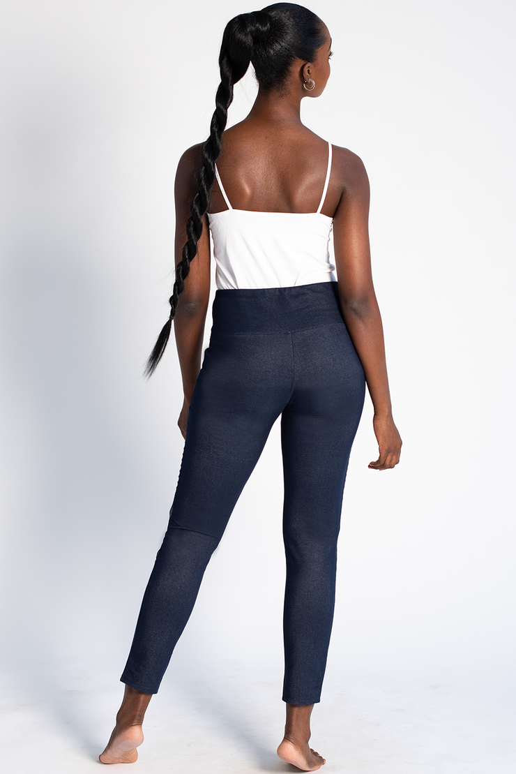 Everly Denim Leggings - Blue Denim