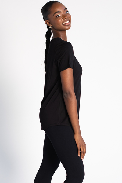 Gracie Crew Neck Tee - Black